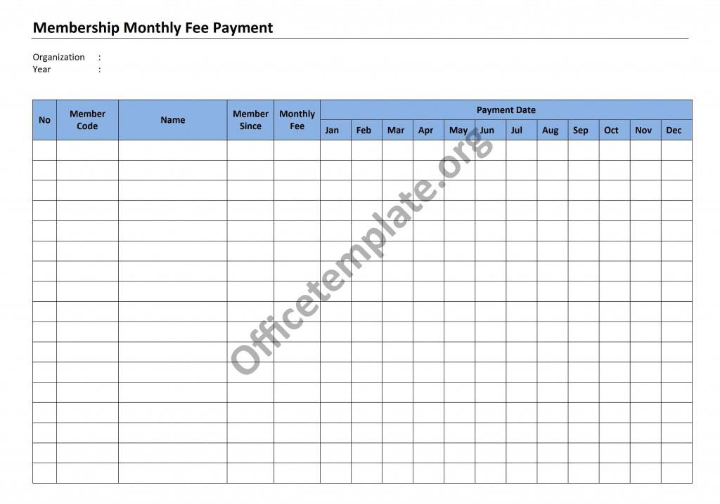 Membership Monthly Fee